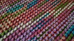 3 Sherbert baby blanket close up