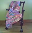 3 Sherbert baby blanket draped