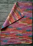 3 Sherbert baby blanket folded